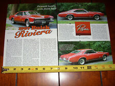 1967 BUICK RIVIERA - ORIGINAL 2002 ARTICLE