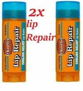 2x OKeeffes Cooling Lip Repair Balm 4.2g Relief For Cracked Split & Dry Lips