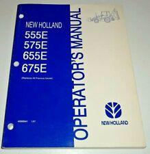 New Holland 555e 575e 655e 675e Loader Backhoe Operators Manual Original 197