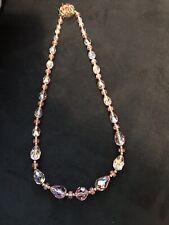 Pink Crystal Necklace Vintage
