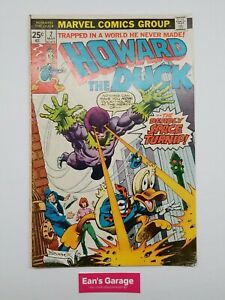 Howard the Duck #2 - Marvel March 1976- actual pictures - FN/VF