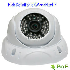 Amview 5MP 2592P PoE Onvif Dome Weatherproof IP Security Camera 48IR WDR System