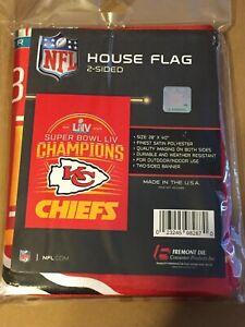 Kansas City Cheifs Super Bowl LIV House Flag 2 Sided  28x40