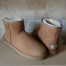 UGG Classic Mini Suede Sheepskin Chestnut  Winter Warm Boots Size US 9 Mens NEW