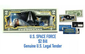US SPACE FORCE $2 BILL LEGAL TENDER UNCIRCULATED COMMEMORATIVE BANK NOTE