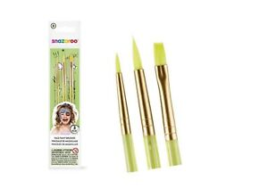 Genuine Professional Snazaroo Pack of Three Face & Body Painting Brushes Paint