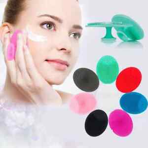 DEEP CLEANSING SILICONE Exfoliating Face Brush pore cleanser Scrub Face Free P+P