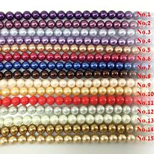 Glass Pearl Round Spacer Loose Beads 3mm 4mm 6mm 8mm 10mm 12mm 16