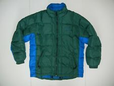 TIMBERLAND Blue/Green Warm DOWN WINTER JACKET Ski Hiking Puffer Coat Sz Men's L
