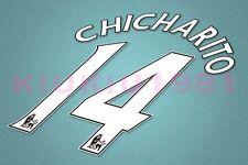 Manchester United Chicharito #14 PREMIER LEAGUE 06-13 White Name/Number Set