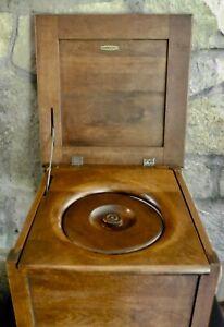 Antique Dillingham MFG Wisconsin Wood Commode Potty Chair w/ Enamel Pot Vintage