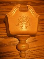 Vtg Homco Decor Colonial Home Interior Brown Faux Wood Wall Hanging Planter   62
