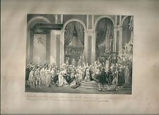 1827 LE COURONNEMENT Madou incoronazione Napoleone Coronation of Napoleon