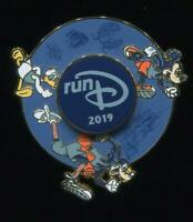 WDW runDisney 2019 Mickey Donald Goofy Spinner Disney Pin 132198