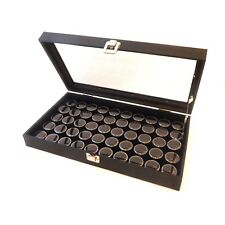 Glass Top 50 State Quarter Coin Collectors Display Case Box with Lid Support