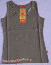 100% Baumwolle Ärmellose Mädchen-T-Shirts & -Tops mit Rundhals ohne Muster