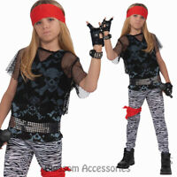 CK662 Boys 80s Rock Star Rock and Roll Punk Superstar Child Fancy Dress Costume