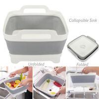 Collapsible Sink Kitchen Foldable Storage Colander Strainer Caravan Boat Camping