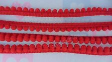 Red Pom Pom Ball Fringe Apron Colorful Trim Sweater Toddler Hood Clothing Bobble