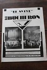 Ancienne publicité presse 1929 - MAGASIN DU MEUBLE AU BUCHERON