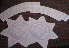 """CHP """"CHiPS""""1955-1998 CALIFORNIA HIGHWAY PATROL Door Set"""
