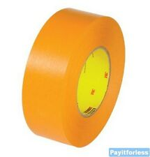 "2"" x 60 Yds 9.6 Mil Orange 3M 2525 Flat Back Carton Sealing Tape 24 Rolls"