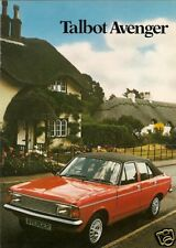 Talbot Avenger 1980-81 UK Market Sales Brochure Saloon Estate LS GL GLS