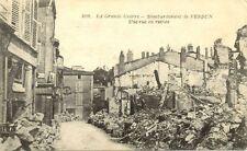cpa 14-18 VERDUN 1019 rue en ruines bombardement
