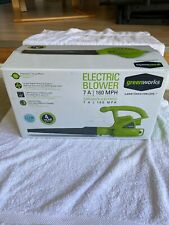 GreenWorks 7 amp 160 mph hand held blower Used Once!