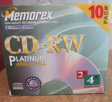 Memorex CD-RW Platinum 10 pack NEW