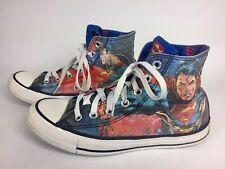 Converse All Star Chuck Taylor Superman DC Comics High Top Shoes Mens 6 Womens 8