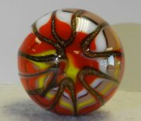 #12371m Handmade Contemporary Swirl Marble With Lutz 1.57 Inches