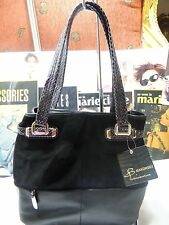 B. MAKOWSKY HAND BAG COLLINS TOTE SUPPLE/ SUEDE LEATHER  BLACK $349 NEW!!