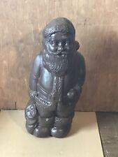 "Rare Vintage Union Chocolate Christmas Santa Claus Blow Mold 13"" Tall"""