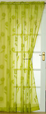 """Sicily Voile Panel Lime 59"""" wide x 90"""" Drop Clearance"""
