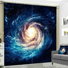 Window Curtain Galaxy Space Printed Grommet Curtains Drapes Living Room Decor