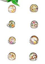 KLUNKER VINTAGE RING ++ AUSWAHL ++ verstellbar silber Glas Cabochon Blmen flower