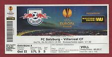Orig.Ticket  Europa League  14/15  RED BULL SALZBURG - VILLARREAL CF  !!  SELTEN