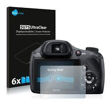 6x Displayschutzfolie Sony Cyber-Shot DSC-HX350 Schutzfolie Klar Folie