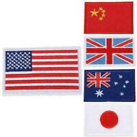 International World Countries Flag Embroidered Iron Patch Badge ON Arm New L8Z2