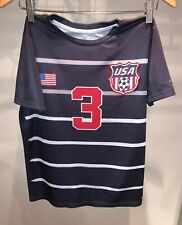 USA Mens National Team Soccer Jersey #3 Xersion Youth Large 14/16  Blue