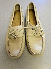 Rockport beige leather, boat shoes, Mens 11 M