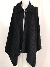 Talbots Black Shawl Sweater - Women's One Size