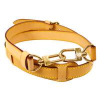 LOUIS VUITTON Logos Shoulder Strap Brown Leather  Handbag Accessories S09702