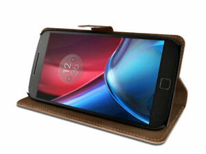LEATHER Wallet Pouch card slot Case Cover For Motorola Moto G5 PLUS 2017 UK POST