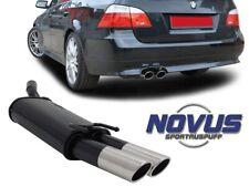 BMW E60 E61 BENZINA 520 523 525 03-10 SCARICO MARMITTA SPORTIVA OMOLOGATA 2x76mm