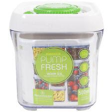 Grunwerg Bomba fresca Blanco 500 Ml Vacío De Almacenamiento De Alimentos Recipiente Frasco Tarro Caja