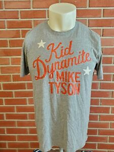 Roots Of Fight Under Armour Mike Tyson 'Kid Dynamite' Shirt Mens Large Gray #81