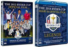 The 2012 (DVD) Ryder Cup Official Film & 2014 (Blu Ray) Medinah Gleneagles Golf