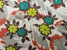 Best Vintage Feedsack Quilt Fabric 40s Floral Lime Red Turquoise Flour Sack